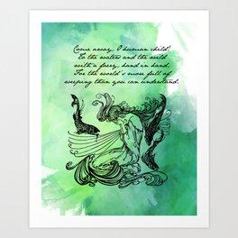 William Butler Yeats - The Stolen Child Art Print