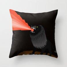 Black Lion Roar Throw Pillow