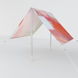 Moving Mountains: a minimal, abstract piece in reds and gold by Alyssa Hamilton Art Sun Shade