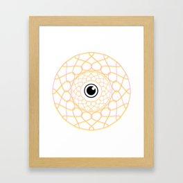 Spiral threaded Eye Framed Art Print