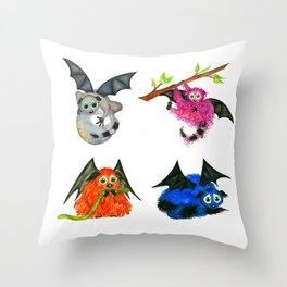 Iggy through the Pages Throw Pillow