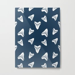 Sharks Tooth Pattern Metal Print