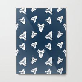 Sharks Tooth Pattern Metal Print
