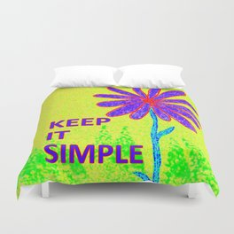 Wildflower Keep It Simple Duvet Cover