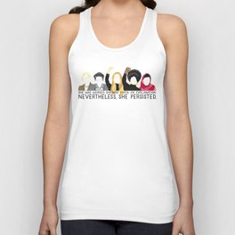 Nevertheless, She Persisted. Unisex Tank Top