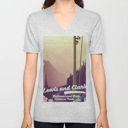 Lewis and Clark National & state historical parks Unisex V-Neck