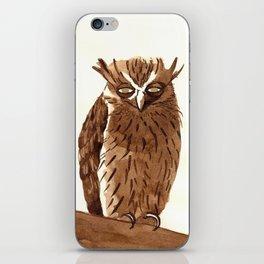 Golden Eyed Owl iPhone Skin