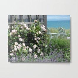 Seaside Respite Metal Print