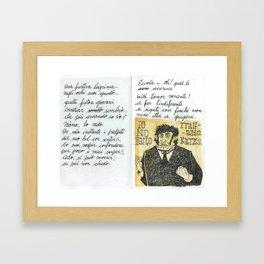 Una Furtiva Lagrima. Framed Art Print