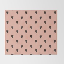 Black hearts Throw Blanket