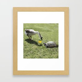 The Turtle and the Goose Framed Art Print