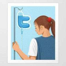 Twitter Drip Art Print