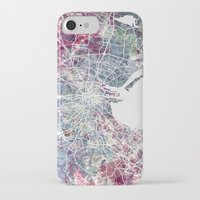 dublin iPhone & iPod Cases featuring Dublin by MapMapMaps.Watercolors