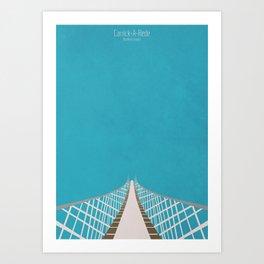 Carrick-A-Rede Rope Bridge Art Print