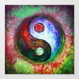 Yin Yang - Colorful Painting III Canvas Print