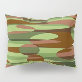 Trendy Green and Brown Camouflage Spheres Pillow Sham