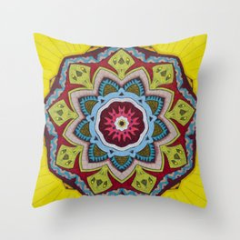 Blessing Mandala - מנדלה ברכה Throw Pillow