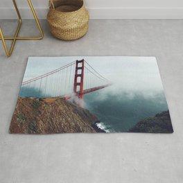 Amazing San Francisco Golden Gate Bridge In Heavy Fog Ultra HD Rug