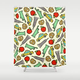 New York, New York Pattern Shower Curtain