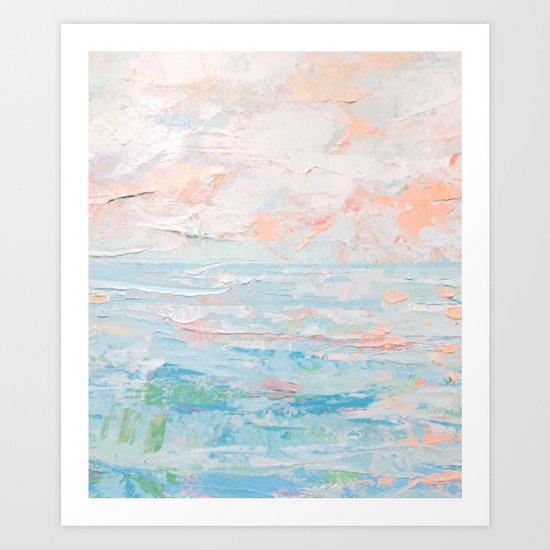 Ocean Tides Detail Art Print