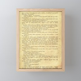 Jane Eyre, Mr. Rochester First Marriage Proposal by Charlotte Bronte Framed Mini Art Print