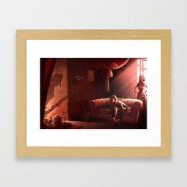 The red room Framed Art Print