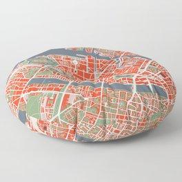 Copenhagen city map classic Floor Pillow