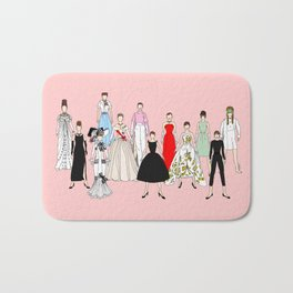 Audrey Hepburn Think Pink Outfits Fashion Bath Mat