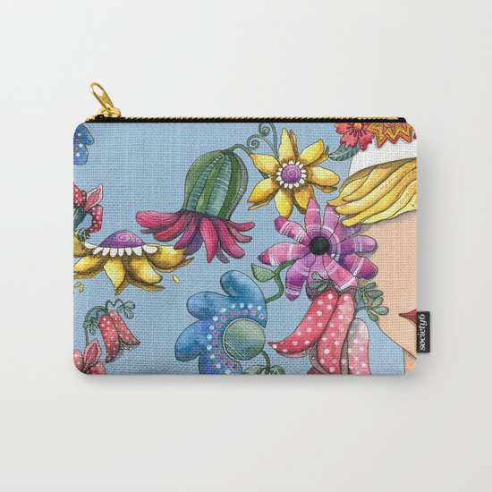 I Love the Flower Girl Carry-All Pouch