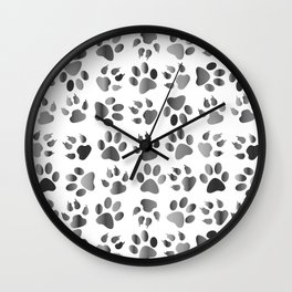 Muddy Paws Wall Clock