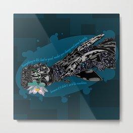 Cybernetic prosthesis Metal Print