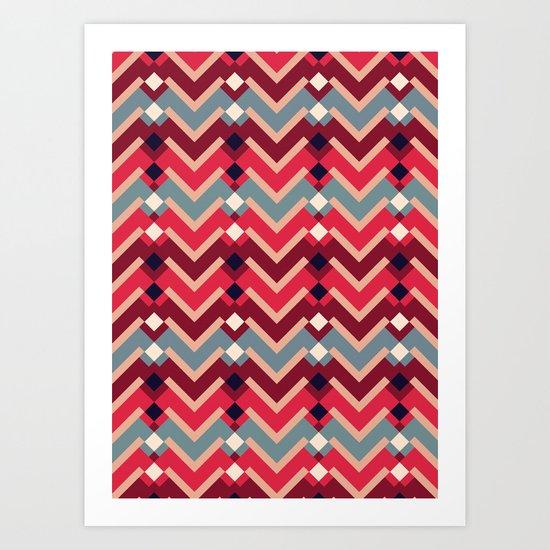 Fractal Mountains - candy Art Print