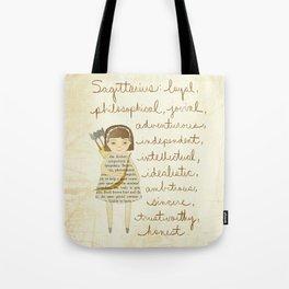 Sagittarius girl Tote Bag