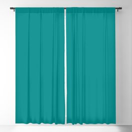 color dark cyan Blackout Curtain
