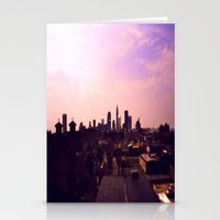 cleveland Stationery Cards featuring Cleveland Skyline by Toni Tylicki