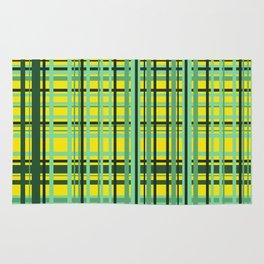 Checkered yellow green Design Rug