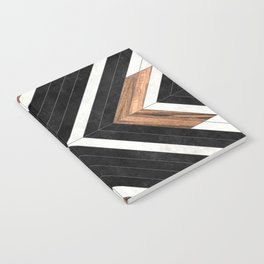 Urban Tribal Pattern No.1 - Concrete and Wood Notebook