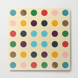 Kulhwch - Colorful Decorative Abstract Dotted Art Pattern Metal Print