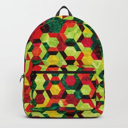 Colorful Half Hexagons Pattern #05 Backpack