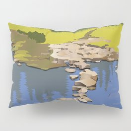 Rock Lake with quote by Robert Frost Pillow Sham