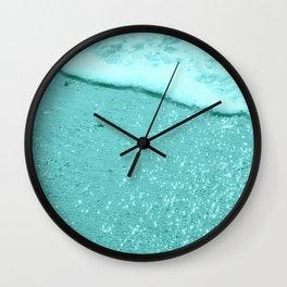 Sparkling Aqua Beach Wall Clock