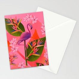 Flamingo Bird of Paradise Stationery Cards