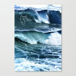 Deep Blue Waves Canvas Print