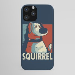 Squirrel Golden Retriever // Obama Hope, Dog for President, Elections iPhone Case
