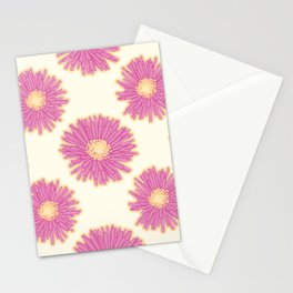 Hottentot Fig Flowers Pattern Stationery Cards