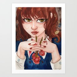 Blood Roses Art Print