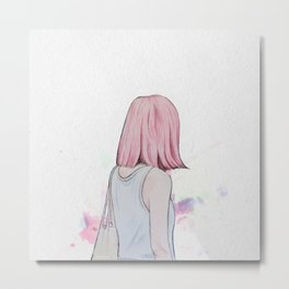 I will be stronger than my sadness Metal Print