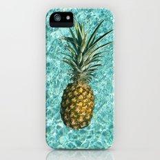 Pineapple Swimming iPhone (5, 5s) Slim Case