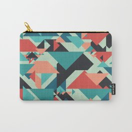 Abstract geometric background. Retro overlapping large and small triangles. Carry-All Pouch