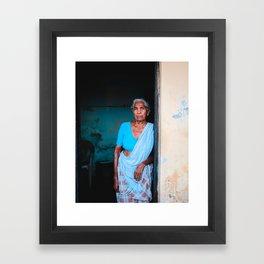The Blue Lady  Framed Art Print
